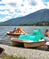 Watersport: Waterfietsen in Kärntner Erlebnispark